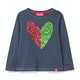 White Stuff Sequin Heart Girls Long Sleeve T-Shirt
