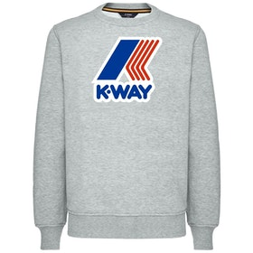 K-Way Augustine Macro Logo Sweater - Light Grey Mel