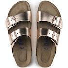 Sandali Birkenstock Arizona Leather Soft Footbed Narrow