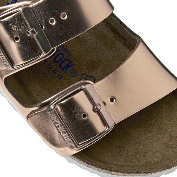 Birkenstock Arizona Leather Soft Footbed Narrow Сандалии