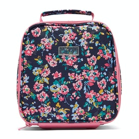 Joules Munch Girls Lunch Bag - Navy Ditsy Floral