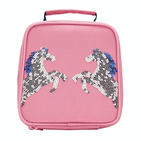 Joules Munch Girls Lunch Bag - Pink Sequin Horse