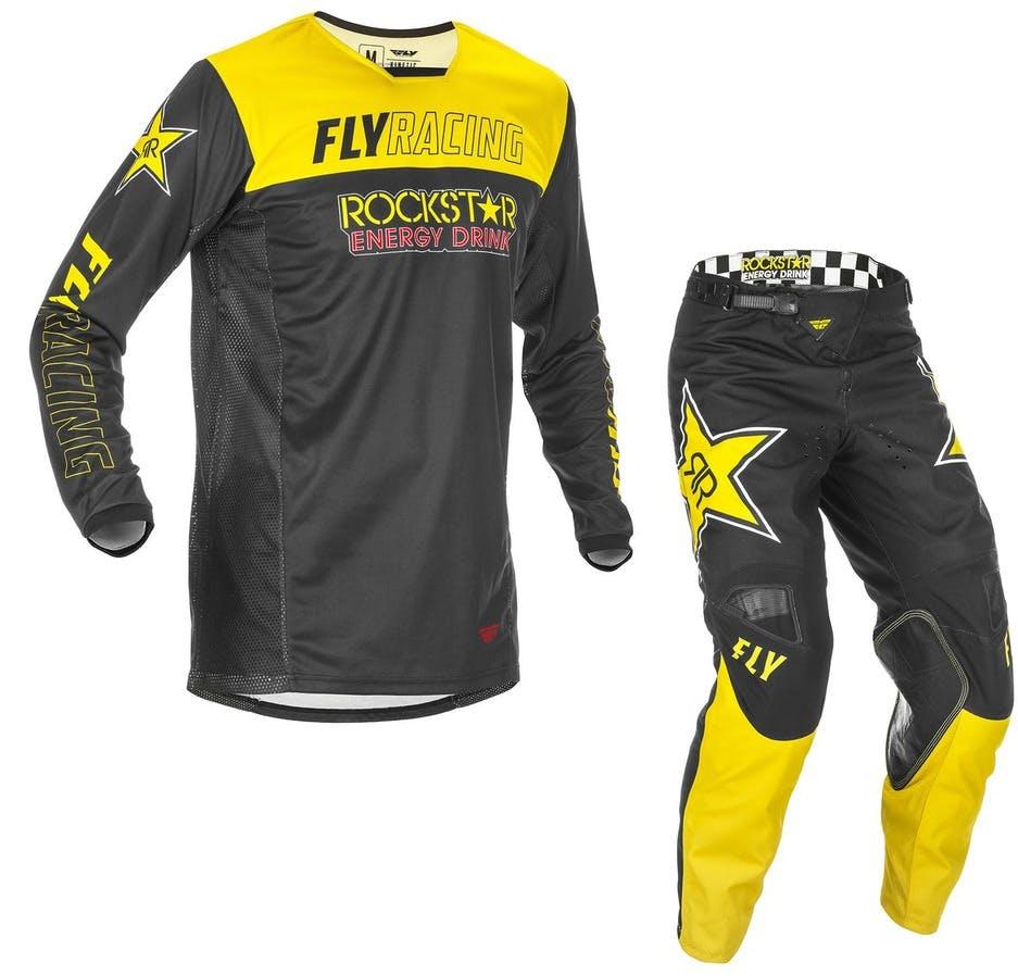 Yellow Fly Racing 2021 Kinetic Rockstar Motocross Downhill Enduro MX Jersey Black